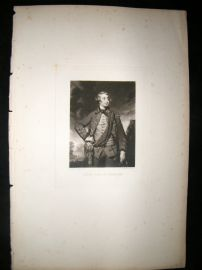 After Joshua Reynolds C1830 Folio Mezzotint. Henry Earl of Pembroke